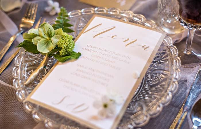 Text na svatebním menu