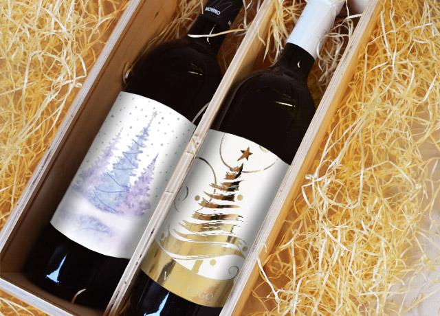 Vánoční etikety na láhve