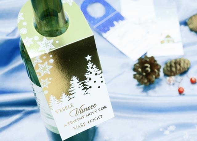 Vánoční vignety na láhve